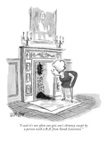 """""""I said it's not often one gets one's chimney swept by a person with a B.A…"""" - New Yorker Cartoon Premium Giclee Print by Warren Miller"""