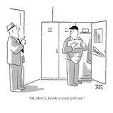 """Oh, Harris, I'd like a word with you."" - New Yorker Cartoon Premium Giclee Print by Chon Day"
