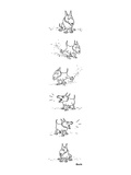 Dog sits, scratches the ground, barks and sits again. - New Yorker Cartoon Premium Giclee Print by George Booth