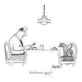 """Cat Yummies again?"" - New Yorker Cartoon Premium Giclee Print by Jack Ziegler"