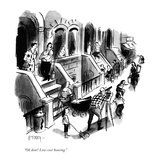 """""""Oh dear! Low-cost housing."""" - New Yorker Cartoon Premium Giclee Print by Barney Tobey"""