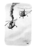 "Two helicopters sporting campaign signs on the side, ""Vote for Tom Jackson… - New Yorker Cartoon Premium Giclee Print by Eldon Dedini"