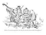 """As far as I'm concerned, gentlemen, this marks the end of the Schwarzwald…"" - New Yorker Cartoon Premium Giclee Print by James Stevenson"