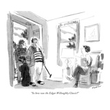 """So how was the Edgar Willoughby Classic?"" - New Yorker Cartoon Premium Giclee Print by James Stevenson"