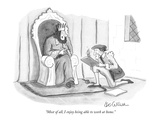 """""""Most of all, I enjoy being able to work at home."""" - New Yorker Cartoon Premium Giclee Print by Leo Cullum"""