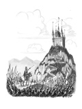 """""""That's my cousin's place. I want you to go up there and flatten it!"""" - New Yorker Cartoon Premium Giclee Print by Warren Miller"""