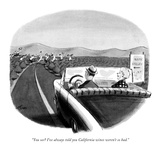 """You see? I've always told you California wines weren't so bad."" - New Yorker Cartoon Premium Giclee Print by Ed Fisher"