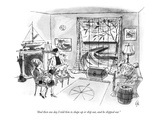 """And then one day I told him to shape up or ship out, and he shipped out."" - New Yorker Cartoon Premium Giclee Print by Everett Opie"
