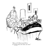 Here at 27 Briarwood Drive it's always been one man, one vote. - New Yorker Cartoon Premium Giclee Print by Lee Lorenz