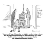 """""""It sure would be swell if your last words didn't mention that eyewitness …"""" - Cartoon Premium Giclee Print by Danny Shanahan"""