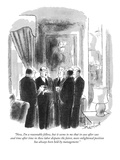 """Now, I'm a reasonable fellow, but it seems to me that in case after case …"" - New Yorker Cartoon Premium Giclee Print by Stan Hunt"