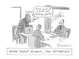 """Wade ""Gator"" Ruben, Tax Attorney"" - Cartoon Premium Giclee Print by Danny Shanahan"