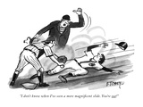 """I don't know when I've seen a more magnificent slide. You're out!"" - New Yorker Cartoon Premium Giclee Print by Barney Tobey"