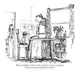 """Please, Daddy. I don't want to learn to use a computer. I want to learn t…"" - New Yorker Cartoon Premium Giclee Print by Robert Weber"