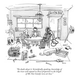 """""""No doubt about it. Scientifically speaking, knowledge of the river will e…"""" - New Yorker Cartoon Premium Giclee Print by George Booth"""