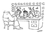 Headless actor examines various heads. - New Yorker Cartoon Premium Giclee Print by Peter Lippman