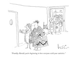 """Frankly, Harold, you're beginning to bore everyone with your statistics."" - New Yorker Cartoon Premium Giclee Print by Arnie Levin"