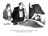 """""""You should take it easy for a while, Mr. Harner. You've been infected by …"""" - New Yorker Cartoon Premium Giclee Print by Dana Fradon"""