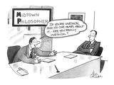 Midtown Philosopher - Cartoon Premium Giclee Print by Leo Cullum
