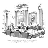 """Then we agree! We're doing the best job that can be done considering that…"" - New Yorker Cartoon Premium Giclee Print by Dana Fradon"