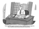 """""""If you would like to press one press one, if you would like to press two,…"""" - Cartoon Premium Giclee Print by Peter C. Vey"""