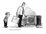 """""""Not even Channel 13?"""" - New Yorker Cartoon Premium Giclee Print by Frank Modell"""