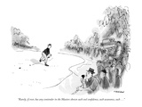 """Rarely, if ever, has any contender in the Masters shown such cool confide…"" - New Yorker Cartoon Premium Giclee Print by James Stevenson"