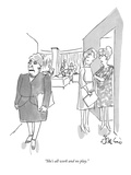 """She's all work and no play."" - New Yorker Cartoon Premium Giclee Print by Edward Frascino"