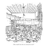 """""""How would I rate, hon, on a scale of one to ten?"""" - New Yorker Cartoon Premium Giclee Print by George Booth"""