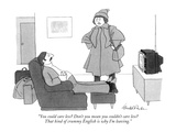 """You could care less? Don't you mean you couldn't care less? That kind of …"" - New Yorker Cartoon Premium Giclee Print by J.B. Handelsman"