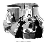 """""""Look! I'm going to be a customer!"""" - New Yorker Cartoon Premium Giclee Print by Barney Tobey"""