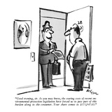"""Good evening, sir. As you may know, the soaring costs of recent environme…"" - New Yorker Cartoon Premium Giclee Print by Lee Lorenz"