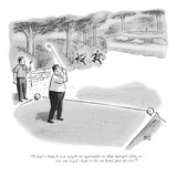 """I had a hunch you might be agreeable to that merger idea, so I arranged f…"" - New Yorker Cartoon Premium Giclee Print by Robert J. Day"