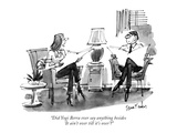 """""""Did Yogi Berra ever say anything besides 'It ain't over till it's over'?"""" - New Yorker Cartoon Premium Giclee Print by Dana Fradon"""