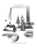 """Guess where my Guccis took me today."" - New Yorker Cartoon Premium Giclee Print by Eldon Dedini"