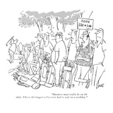 """""""Business must really be on the skids. This is the longest we've ever had …"""" - New Yorker Cartoon Premium Giclee Print by Claude Smith"""
