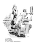 """"""". . . and what was that woman's name? You know, the one we liked her husb…"""" - New Yorker Cartoon Premium Giclee Print by Alice Harvey"""