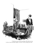 """""""I think you just missed something. The ball went up in the air and somebo…"""" - New Yorker Cartoon Premium Giclee Print by Charles Saxon"""