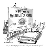 """Do you think they'll give away those little green Heinz pickles again?"" - New Yorker Cartoon Premium Giclee Print by Rowland Wilson"