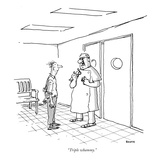 """""""Triple whammy."""" - New Yorker Cartoon Premium Giclee Print by George Booth"""
