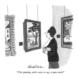 """""""This painting, we're sorry to say, is pure trash."""" - New Yorker Cartoon Premium Giclee Print by J.B. Handelsman"""
