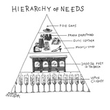 Hierarchy of Needs - Cartoon Premium Giclee Print by Marisa Acocella Marchetto