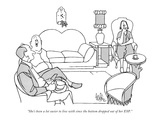 """She's been a lot easier to live with since the bottom dropped out of her …"" - New Yorker Cartoon Premium Giclee Print by George Price"