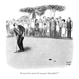 """It wasn't her sneeze! It was your 'Gesundheit'!"" - New Yorker Cartoon Premium Giclee Print by Robert J. Day"