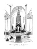 """""""The trustees feel the Reverend Dr. Clapsattle does not harmonize with the…"""" - New Yorker Cartoon Premium Giclee Print by George Booth"""
