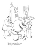 """Don't you just love my skyscraper furniture?"" - New Yorker Cartoon Premium Giclee Print by Julian de Miskey"