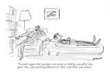 """I would suggest that you have two means of ridding yourself of that guilt…"" - New Yorker Cartoon Premium Giclee Print by Frank Modell"