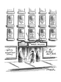Man walks by 'The Bodley Building.' Signs in the building's windows indica… - New Yorker Cartoon Premium Giclee Print by Henry Martin