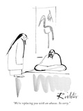 """""""We're replacing you with an abacus. So sorry."""" - New Yorker Cartoon Premium Giclee Print by Mischa Richter"""