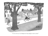 """It's the old story. East Hampton isn't big enough for both of them."" - New Yorker Cartoon Premium Giclee Print by J.B. Handelsman"